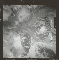 Unknown glaciers in the southwest Alaska Range, aerial photograph FL 111 V-159, Alaska