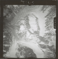 Unknown glaciers in the southwest Alaska Range, aerial photograph FL 111 V-160, Alaska