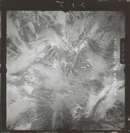 Unknown glaciers in the southwest Alaska Range, aerial photograph FL 111 V-163, Alaska