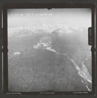 West Fork Glacier, aerial photograph FL 120 R-50, Alaska