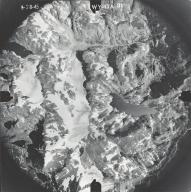 Unknown glaciers near Klondike Lake, aerial photograph WY-17A-31, Wyoming