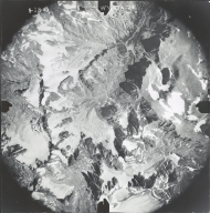 Gannett, Dinwoody, Helen, and Sacajawea Glaciers, aerial photograph WY-17A-74, Wyoming