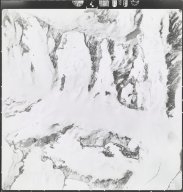 Gakona Glacier, aerial photograph M 4F4 93, Alaska