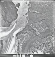 Trimble Glacier, aerial photograph M224 5187, Alaska