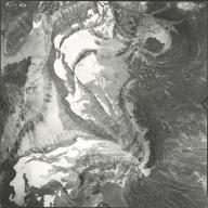 Thunderbird Glacier, aerial photograph GP 13-23, Montana