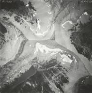 Miche Wabun Glacier, aerial photograph GP 13-27, Montana