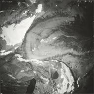 Ahern Glacier, aerial photograph GP 13-36, Montana