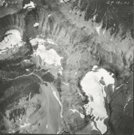 Old Sun Glacier, aerial photograph GP 13-43, Montana