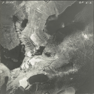 Herbst Glacier and Hudson Glacier, aerial photograph GP 6-2, Montana