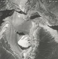 Piegan Glacier, aerial photograph GP 6-24, Montana