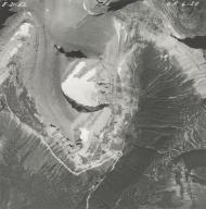 Piegan Glacier, aerial photograph GP 6-25, Montana