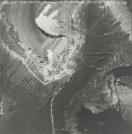 Piegan Glacier, aerial photograph GP 6-26, Montana
