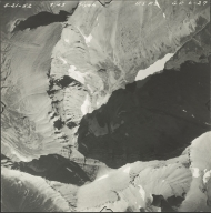 Siyeh Glacier, aerial photograph GP 6-27, Montana