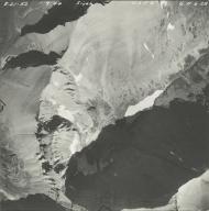 Siyeh Glacier, aerial photograph GP 6-28, Montana