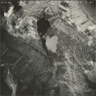 Grinnell Glacier, aerial photograph GP 6-29, Montana