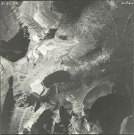 Herbst Glacier and Hudson Glacier, aerial photograph GP 6-3, Montana