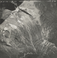 Herbst Glacier, aerial photograph GP 6-36, Montana