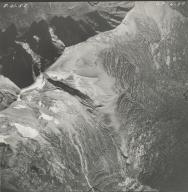 Herbst Glacier and Hudson Glacier, aerial photograph GP 6-37, Montana