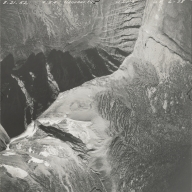 Herbst Glacier and Hudson Glacier, aerial photograph GP 6-38, Montana