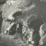 Herbst Glacier and Hudson Glacier, aerial photograph GP 6-4, Montana