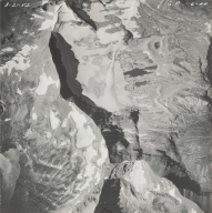 Sperry Glacier, aerial photograph GP 6-44, Montana