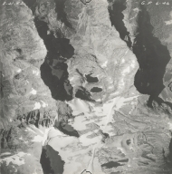 Sperry Glacier, aerial photograph GP 6-46, Montana