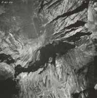 Sperry Glacier, aerial photograph GP 6-49, Montana