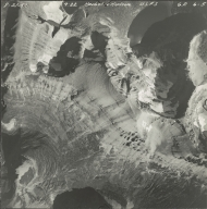 Herbst Glacier and Hudson Glacier, aerial photograph GP 6-5, Montana