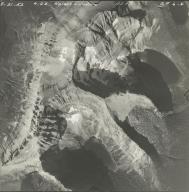 Hudson Glacier, aerial photograph GP 6-6, Montana