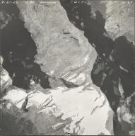 Harrison Glacier, aerial photograph GP 6-67, Montana
