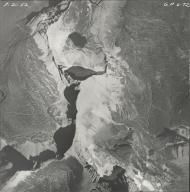 Piegan Glacier, aerial photograph GP 6-72, Montana