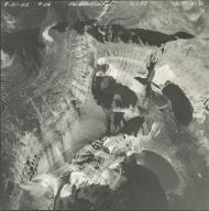 Hudson Glacier, aerial photograph GP 6-8, Montana