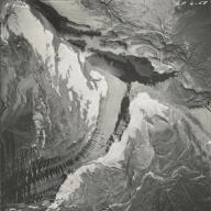 Logan Glacier, aerial photograph GP6-58, Montana