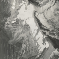 Blackfoot Glacier and Grant Glacier, aerial photograph GP 6-62, Montana