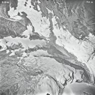 Pumpelly Glacier, aerial photograph 14A-6, Montana