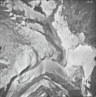 Blackfoot Glacier, aerial photograph 15-3, Montana