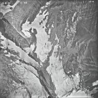 Pumpelly Glacier, Blackfoot Glacier, and Grant Glacier, aerial photograph 15-4, Montana