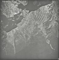 Harris Glacier, aerial photograph 1E-1, Montana