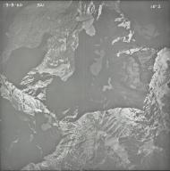 Kintla Glacier, aerial photograph 1E-2, Montana