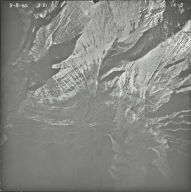 Kintla Glacier, aerial photograph 1E-5, Montana