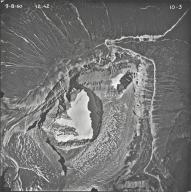 Piegan Glacier, aerial photograph 10-3, Montana