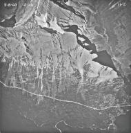 Sexton Glacier, aerial photograph 11-2, Montana