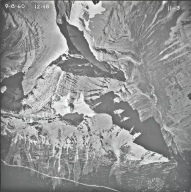 Sexton Glacier, aerial photograph 11-3, Montana