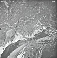 Red Eagle Glacier, aerial photograph FL15-6, Montana