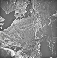 Hudson Glacier, aerial photograph 18A-1, Montana