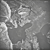 Herbst Glacier, aerial photograph 18-4, Montana