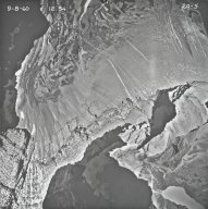 Siyeh Glacier, aerial photograph 20-5, Montana