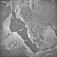 Split Mountain, aerial photograph 23-6, Montana