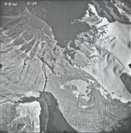 Rainbow Glacier, aerial photograph FL2A-3, Montana