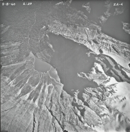 Rainbow Glacier, aerial photograph FL2A-4, Montana